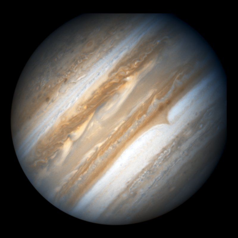 Jupiter's mass is 318 times larger than Earth. The diameter is 11 ...