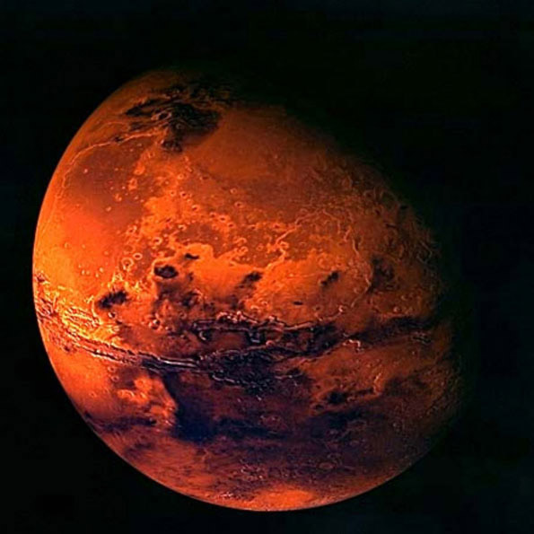 Known as the Red Planet, Mars is characterized by its red, dusty ...